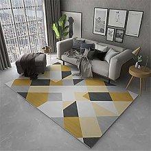 Small Rug For Bedroom Modern Geometry Dustproof