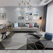 Small Rug Modern Geometry Soundproof Rugs Gray