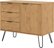 small sideboard with 1 door, 3 drawers