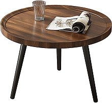 Small Sofa Side Table round, End Table with wood