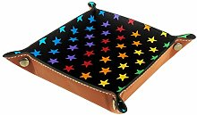 Small Storage Box,mens valet tray,Colorful Stars
