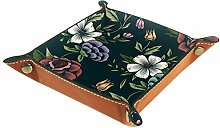 Small Storage Box,mens valet tray,Floral Flower