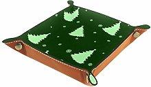Small Storage Box,mens valet tray,Green Christmas