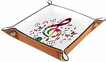 Small Storage Box,mens valet tray,Music Notes With