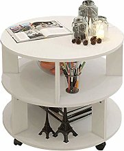 Small Table Cocktail Table Double Storage Shelf