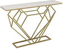 Small Table Hallway Marble Console Table, Modern