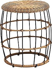 Small Table Natural Rattan Round Tea Table Mobile