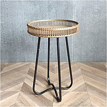 Small Table Sofa Side Table Iron Log Round Side