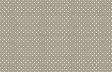 Small Taupe Polka Dot Spotty Vinyl Table Cover PVC