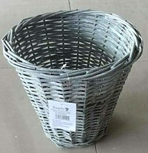 Small Waste paper Wicker Bin for Office and Home