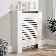Small White Radiator Cover Wooden MDF Wall Cabinet