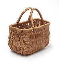 Small Wicker Shopping Basket/Two Handles