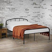 Smallwood Bed Frame Borough Wharf Colour: Black,
