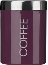 Smalti Coffee Canister Made Of Purple Enamel With