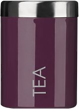 Smalti Tea Canister Made Of Purple Enamel With