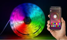 Smart Bluetooth LED Strip Lights: 2m/Two