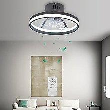 Smart Fan Ceiling Lamp Remote Control Ring Modern