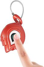 Smart Fingerprint Cable Lock 200mAh Rechargeable