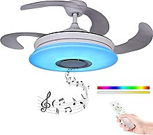 Smart Music Ceiling Fan Light with Remote Control