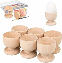 Smart Planet - Set of 6 wooden egg cups, untreated