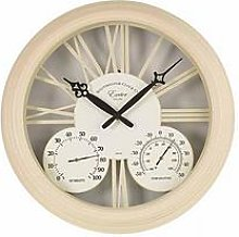 Smart Solar Cream Exeter Wall Clock &Amp;