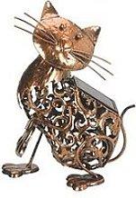 Smart Solar Metal Solar Cat Light