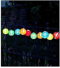 Smart Solar Multi-Coloured Chinese Lantern String
