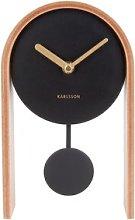 Smart Tabletop Clock Karlsson Colour: Beige/Black