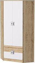 SMARTBett GmbH Niki Corner Wardrobe 2 Door with 2