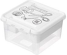 SmartStore 3168210 Plastic Sewing Box White 28 x