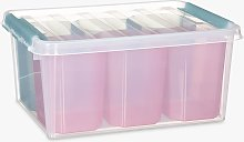 SmartStore by Orthex 15 Plastic Storage Box with 6