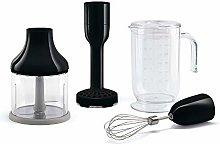 SMEG hbac01bl Black Plunge Blender Accessory Se