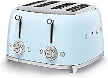 Smeg TSF03PBUK Retro 4 Slice Toaster, 4 Extra-Wide