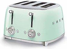Smeg TSF03PGUK Retro 4 Slice Toaster, 4 Extra-Wide