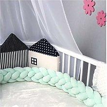 SMEJS Braided Crib Bumper Baby Room Decor Baby