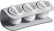 SMEJS Plastic Spice Jar with Spoon Seasoning Box
