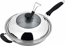 SMEJS Uncoated Wok- Stainless Steel Dome Lid