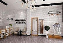 Smhcha Wallpaper Roll, Retro Brick Effect Beige