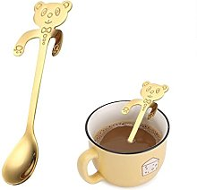 SMILEQ Cute Bear Spoon Long Handle Spoons Flatware