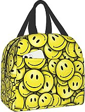 Smiley Face Pattern Portable Lunch Bag Insulated