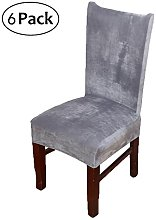 smiry velvet dining room chair covers, large,