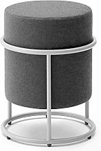 Smisoeq Shoes Bench Cloth Round Stool Simple