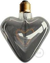 Smithery - Heart Led Light Bulb Smoky Grey
