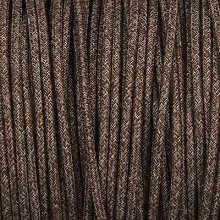 Smithery - Round Lighting Cable Brown Canvas Linen