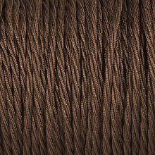 Smithery - Twisted Lighting Cable Brown Braided