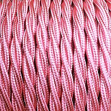 Smithery - Twisted Lighting Cable Candy Pink Fabric
