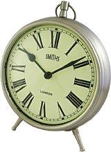Smiths Large Chrome Fob Style Mantel Clock