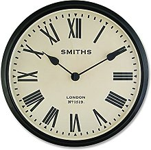 Smiths Large Wall Clock with Roman Numerals - 50cm