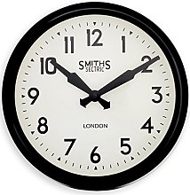 Smiths Retro Wall Clock in Black - 38cm