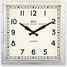 Smiths Square Wall Clock in Chrome - 41cm